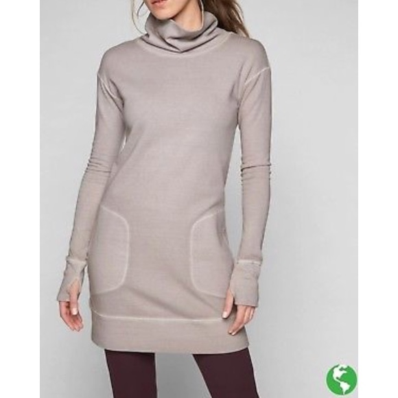 0a3afe35ca8 Athleta Eco wash Turtleneck Sweatshirt Dress